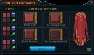 Max cape customiser