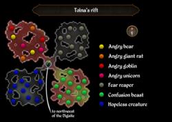 Tolna's rift map