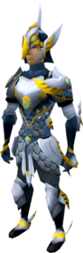 Armadyl armour set equipped