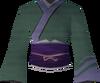 Eastern kimono (green) detail