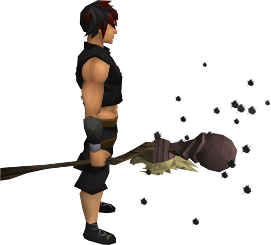 File:Skeletal staff of earth equipped.png