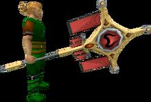 Banner of Zamorak (tier 4) equipped