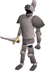 Animated steel armour old