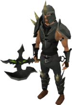 Dharok's armour set equipped