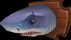 Mounted great white shark (built)