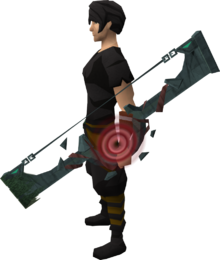 Slayer Tower shortbow equipped