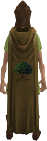 Hooded woodcutting cape equipped