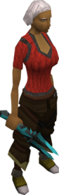 Frostbite dagger equipped