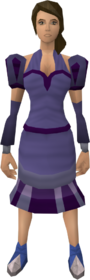 Purple elegant clothing (female) equipped