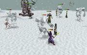 Battle against ice titans