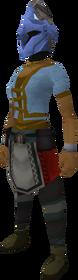 Rune heraldic helm (Asgarnia) equipped