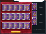 Fortune teller table interface