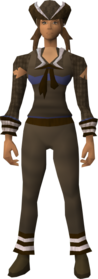 Naval set (brown) equipped