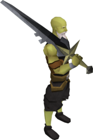 Lucky Saradomin sword equipped
