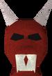 Red hallowe'en mask detail