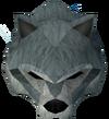 Werewolf mask (dark grey, female) detail