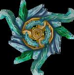 Off-hand attuned crystal chakram detail