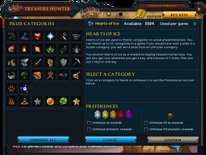 Treasure Hunter Heart of Ice interface