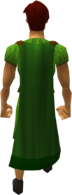 Cape (green) equipped