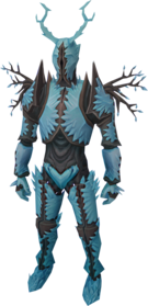 Attuned crystal armour equipped