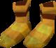 Golden mining boots detail