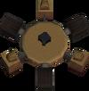 Gold cannon base detail
