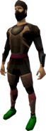 Death Lotus rogue armour (male) equipped
