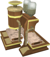 Mahogany pet feeder detail