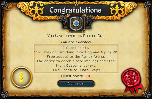 Rocking Out reward