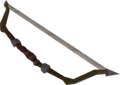 Willow composite bow detail