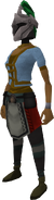 Rune heraldic helm (Misthalin) equipped