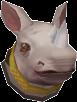 White royal rhino chathead