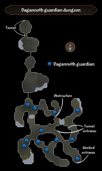 Dagannoth guardian dungeon map