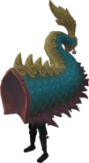Blue zodiac costume (tail) equipped
