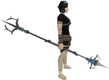 Augmented chaotic spear equipped