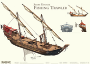 Fishing Trawler rework concept art