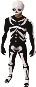 Skeleton set equipped