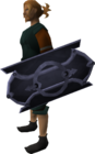 Mithril sq shield equipped