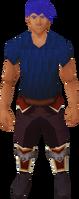 Plate-shin long shorts