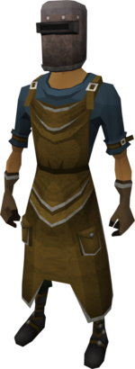 Blacksmith's outfit equipped
