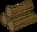 Oak pyre logs detail