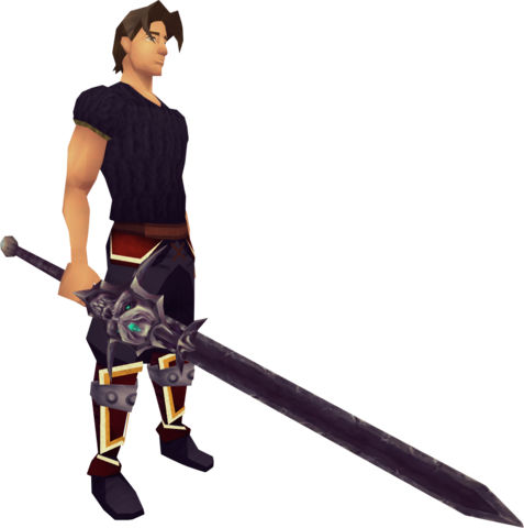 File:Cursed Arrav Sword equipped.png