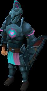 Rune heraldic armour set 1 (lg) equipped
