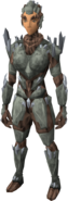 Stoneheart armour equipped (female)