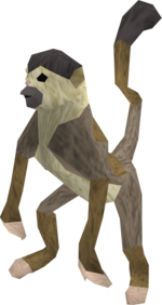 Monkey (brown and beige) pet
