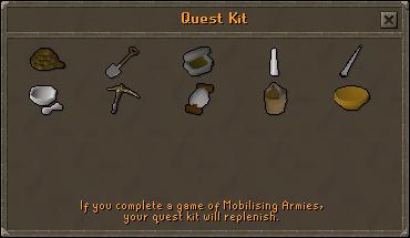 Quest kit (medium) contents