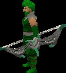 Sagittarian longbow equipped