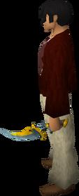 Off-hand exquisite sword equipped