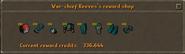 War-chief Reeves' reward shop