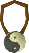 Yin yang amulet detail